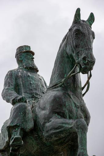 Une statue de Léopold II dégradée au Musée de l'Afrique à Tervuren