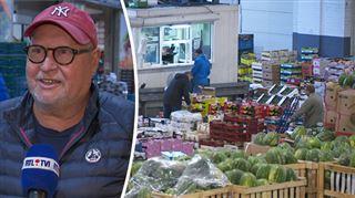 Hubert, restaurateur, retrouve le marché matinal après 3 mois d'arrêt- C'est un grand jour
