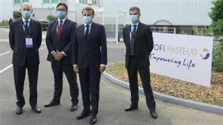 Macron arrive chez Sanofi à Lyon pour soutenir la production de vaccins