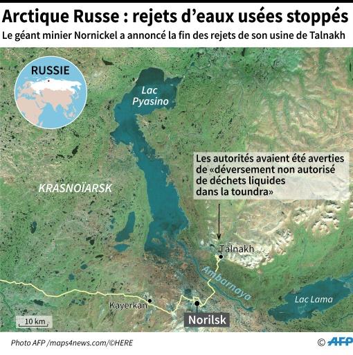 Arctique russe: rejet d'eaux usées dans une usine d'enrichissement de minerai