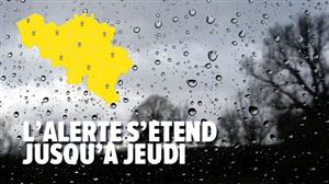 Prévisions météo: de la pluie attendue parfois en quantité, surtout au sud du sillon Sambre et Meuse