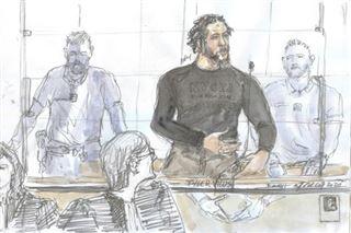 Aux procès de Tyler Vilus, la scène de l'exécution