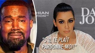 Kanye West s'excuse publiquement auprès de Kim Kardashian
