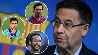 Départ de Messi, retour de Neymar- le président du Barça se prononce sur les dossiers chauds de l'été