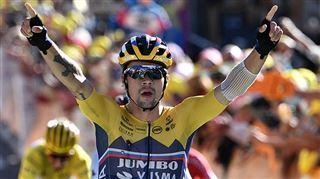 Tour de France- un puissant Primoz Roglic remporte la 4e étape, Julian Alaphilippe conserve le maillot jaune