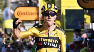 Tour de France- victoire du Belge Wout Van Aert sur la cinquième étape