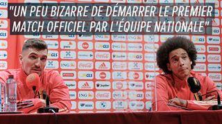 Les nouveaux coéquipiers à Dortmund Meunier et Witsel sont heureux de retrouver la sélection
