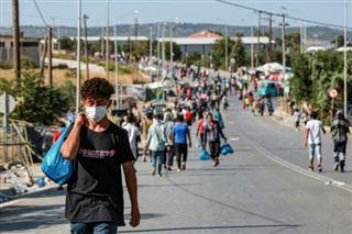 A Lesbos, la majorité de demandeurs d'asile installés dans le nouveau camp