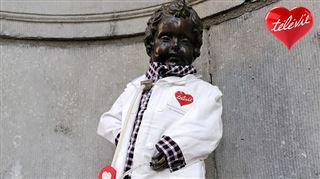 Pour soutenir le Télévie, Manneken-Pis revêt son costume de chercheur (photo)