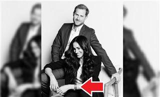 Meghan Markle porte des bijoux royaux d'une valeur de 330.000 euros sur la nouvelle photo officielle du couple