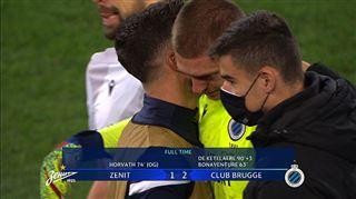 Ligue des champions- les LARMES du gardien de Bruges après la victoire contre le Zénith (vidéo) 3