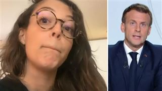 Camille Lellouche répond à Emmanuel Macron- un sketch grinçant empreint de colère