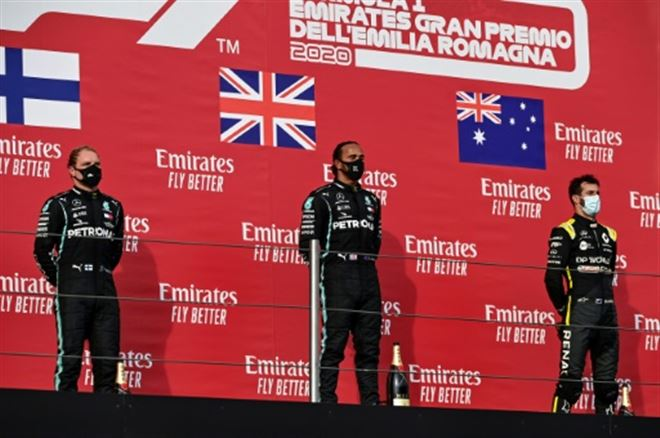 F1- Hamilton gagne à Imola, 7e titre consécutif record pour Mercedes