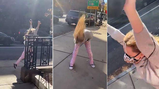 Jennifer Lawrence hurle de joie et court dans la rue en pyjama après la victoire de Joe Biden