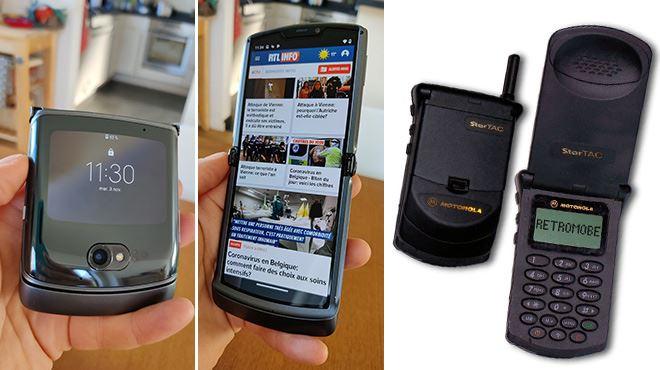 Les tests de Mathieu- Motorola nous ressort son fameux Razr, téléphone à clapet des années GSM