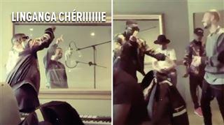 Matt Pokora chante en lingala dans sa chanson avec Fally Ipupa- les coulisses du petit cours en studio dévoilées (vidéo)