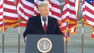 Dernier discours de Donald Trump en tant que président des États-Unis- Nous reviendrons d'une manière ou d'une autre