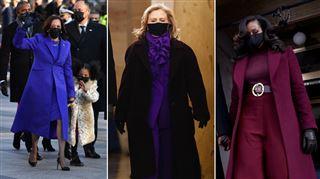 Kamala Harris, Hillary Clinton, Michelle Obama- pourquoi portaient-elles toutes du mauve lors de la cérémonie d'investiture de Joe Biden?