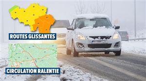 Météo - Neige en Wallonie: circulation difficile sur les autoroutes et risque de conditions glissantes