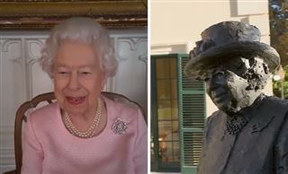 La Reine d'Angleterre réagit avec humour en découvrant une nouvelle sculpture d'elle en Australie via visioconférence