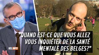 Des témoins demandent à Frank Vandenbroucke s'il compte s'occuper du mental des Belges- voici sa réponse en direct
