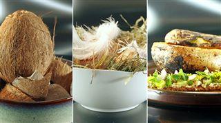 Soupe servie dans un œuf, une pomme de terre, une noix de coco- les candidats DÉBORDENT de créativité dans Top Chef (vidéo)