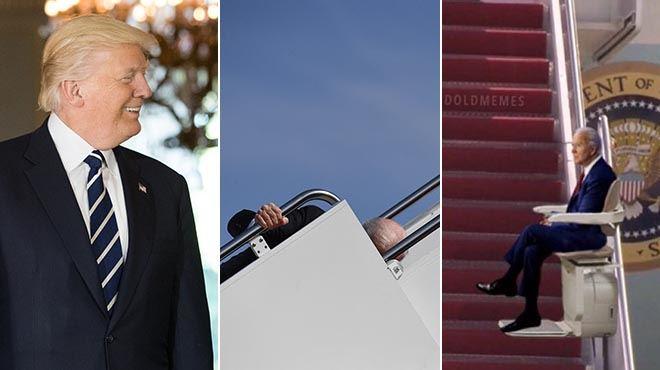 Donald Trump se moque de la chute de Joe Biden… et ce n'est pas le seul- les internautes s'en donnent à cœur joie (photos)