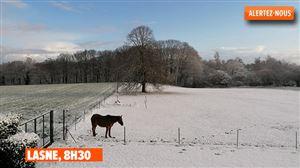 Neige en avril: vos photos de ce mardi