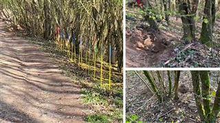 Affaire Estelle Mouzin- les fouilles sont terminées pour ce jeudi, la pelleteuse a creusé les premiers trous (photos)