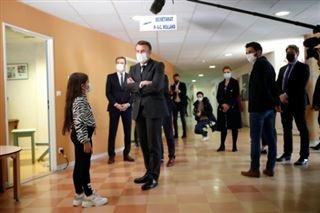 Covid-19- à Reims, Macron rencontre des ados déprimés et des psychiatres débordés