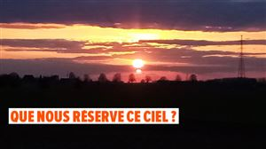 """Un peu de poésie dans cette pandémie: """"Coucher de soleil exceptionnel sur Pont-à-Celles"""""""