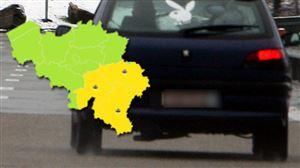 Attention sur les routes jusqu'à vendredi en fin de matinée: risque de conditions glissantes sur trois provinces du pays