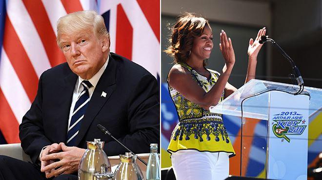 Donald Trump se moque du physique de Michelle Obama- l'ancien président au cœur d'un nouveau scandale