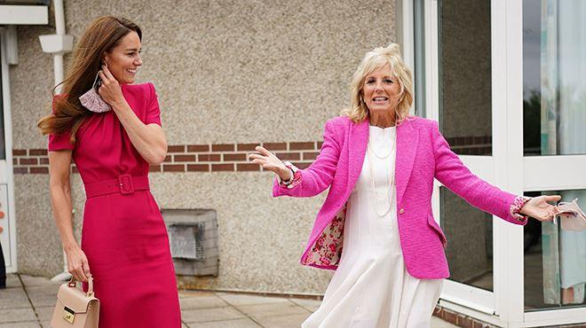 Kate Middleton rencontre Jill Biden au G7- looks coordonnés et visite d'une école