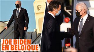Le président américain Joe Biden a atterri hier soir en Belgique- une arrivée chronométrée à Melsbroek
