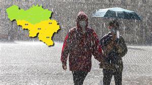Prévisions météo: des averses orageuses ou intenses pourraient éclater en Wallonie