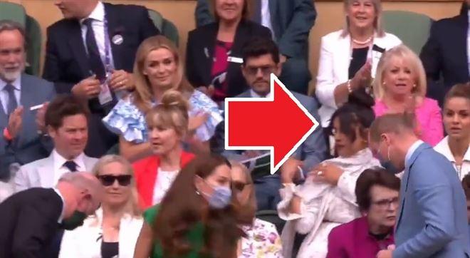La meilleure amie de Meghan Markle n'applaudit pas Kate et William lors de leur arrivée à Wimbledon (vidéo)