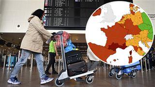 Bruxelles en rouge foncé sur la carte européenne, la Wallonie reste en rouge