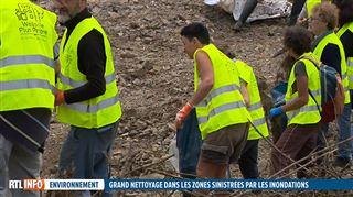 Inondations- une armée de bénévoles a débarqué à Pepinster pour nettoyer les zones sinistrées (vidéo)