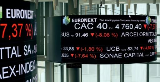 La Bourse de Paris, attentiste, termine en baisse de 0,34%