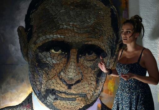 Après Poutine, Trump: les portraits à scandale d'artistes ukrainiens en exil