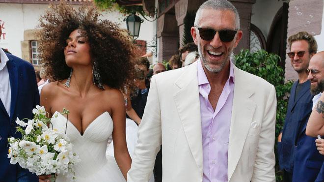 """""""Mariage machiste, sexclavagiste"""": Vincent Cassel et Tina Kunakey se sont mariés malgré les critiques (photos)"""