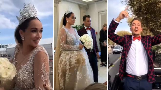 Jazz et Laurent se sont mariés samedi à Cannes: les images de la cérémonie ultra BLING BLING
