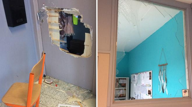 Portes fracturées à coups d'extincteur, matériel saccagé, urine sur les bureaux: une école a été saccagée à Perwez (photos)