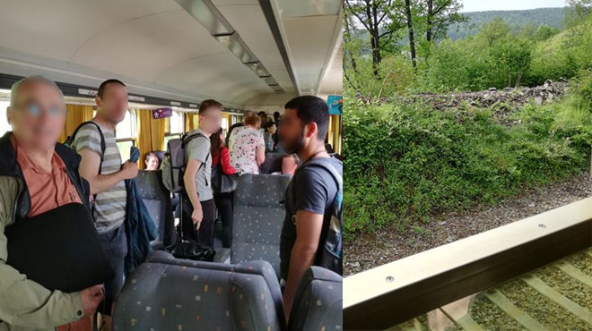 """Un train bloqué plus de 2 heures entre Rochefort et Marche en plein soleil: """"Pas de climatisation, pas d'eau, malaise d'une femme enceinte"""""""