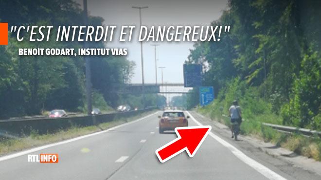 Stupéfaction pour Pauline: elle croise un cycliste... sur le ring de Bruxelles