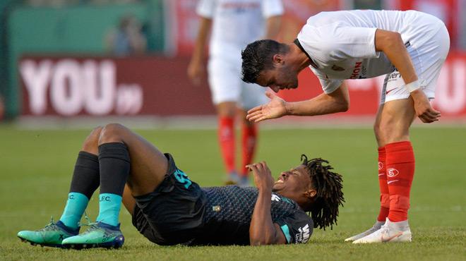 Le tacle assassin d'un joueur du FC Séville en match amical contre Liverpool (vidéo)