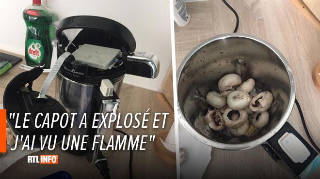 """Laurent assure que son blender chauffant lui a """"explosé au visage"""" alors qu'il préparait une soupe"""