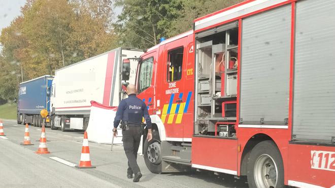 Collision mortelle entre trois camions à Mons mercredi: on en sait plus sur l'accident