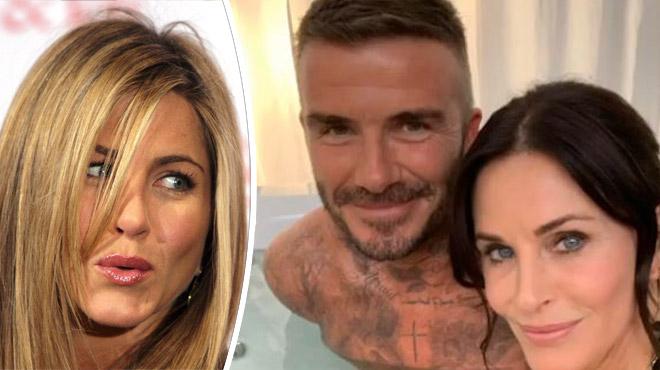 """David Beckham et Courteney Cox dans un jacuzzi: Jennifer Aniston """"jalouse"""" (photo)"""